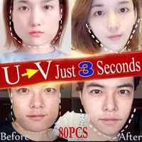 40 80 160 Pza pegatina de elevación facial delgada cara Stick Anti hundimiento V forma Anti celulitis Invisible pegatina médica mentón y rostro cinta de elevación