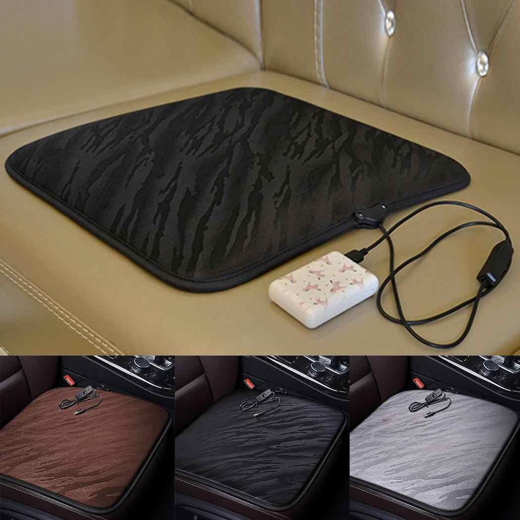 Inverno aquecido almofada de assento de carro casa quente, escritório, cinza/café/preto escritório casa almofada de assento capa
