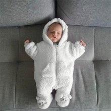 Одежда для малышей от 0 до 3 месяцев зимний комбинезон детские