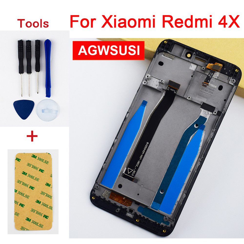 For Xiaomi Redmi 4X LCD Touch Screen Digitizer Sensor For Xiaomi Redmi 4X Pro Prime LCD Display Panel Assembly Frame