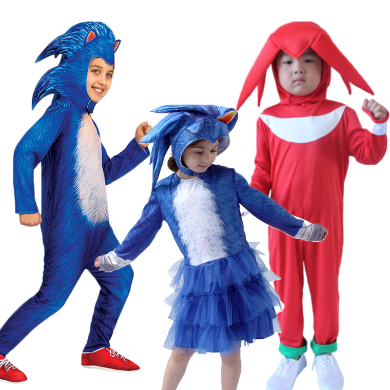 Fancy Halloween Costume For Kids Anime Cartoon Cosplay Sonic The Hedgehog Costumes Boys Girls Christmas Jumpsuit Show Suit C52k1 Aliexpress