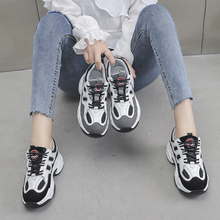 2019 Autumn New Women Chunky Sneakers Reflective Platform Breathable Mesh Casual Dad Shoes