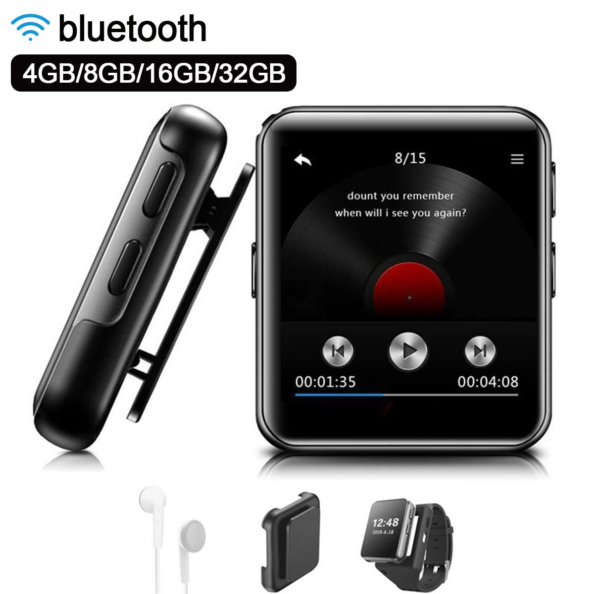 Mini Clip <font><b>MP3</b></font> <font><b>Player</b></font> bluetooth mit 1,54 Zoll Touch Screen Tragbare <font><b>MP3</b></font> Musik <font><b>Player</b></font> HiFi <font><b>Metall</b></font> Audio-<font><b>Player</b></font> mit FM für Lauf image