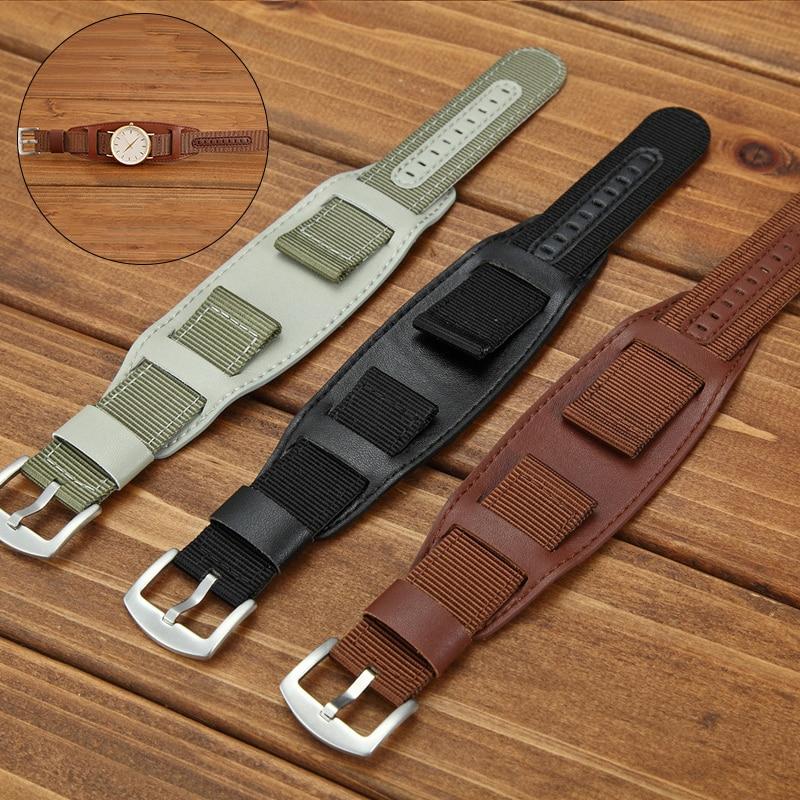 18mm 20mm 22mm 24mm pulseira de relógio de couro pulseira de relógio de pulso de couro fivela de aço inoxidável masculino mulher acessórios de relógio