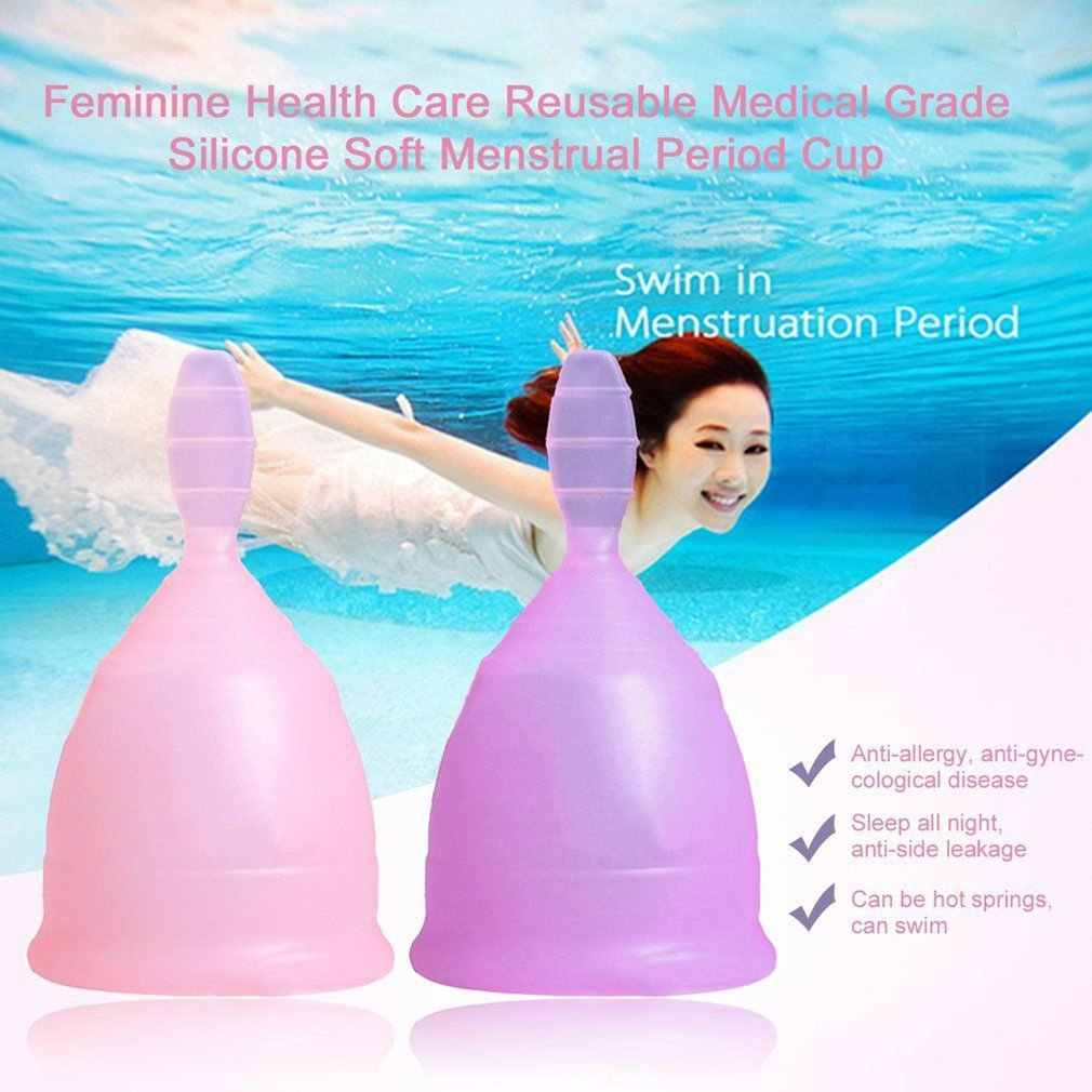 Oferta! 1 peça médica grau silicone menstrual copo para mulher reutilizável médico silicone menstrual coletor para cuidados de saúde