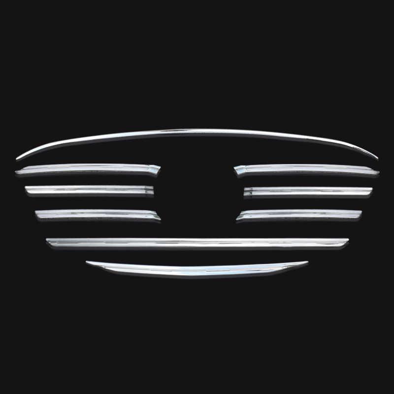 9 قطعة/المجموعة ABS كروم الشواية الجبهة غطاء مصبغة تقليم الحرس صب اكسسوارات صالح ل 2015 2016 مازدا CX-5 CX5