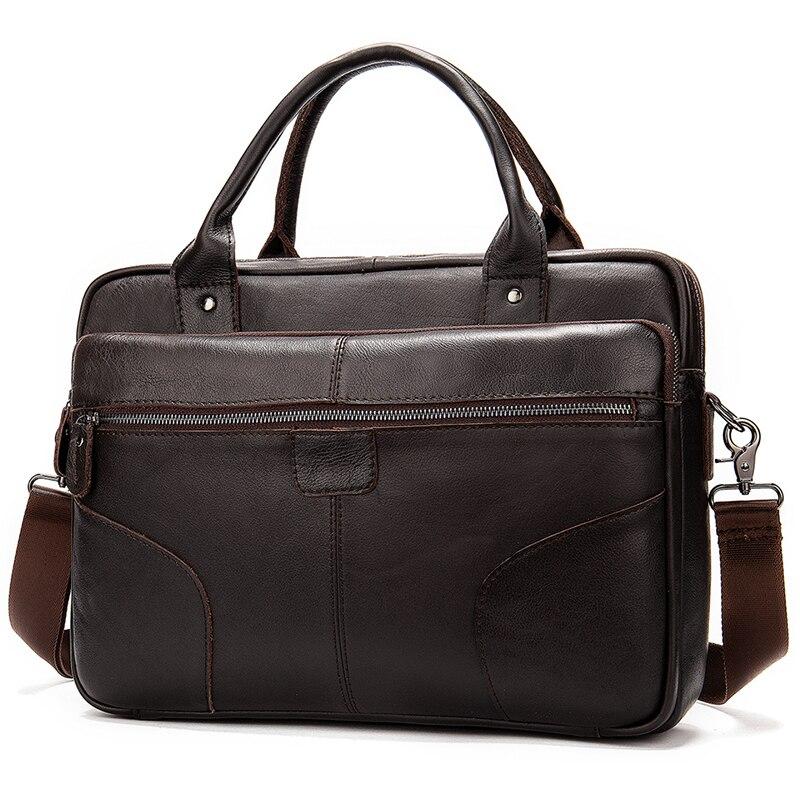 Luufan Bag Men's Shoulder Bag For Men's Genuine Leather Documents Bag Male Laptop Briefcase Crossbody Handbag Designer Tote