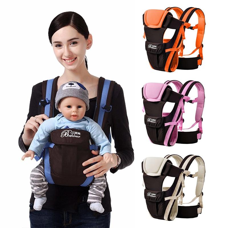 Слинги 4 в 1 для детей 0-24 месяцев, воздухопроницаемые удобные Рюкзаки-слинги, эргономичная Сумка-кенгуру