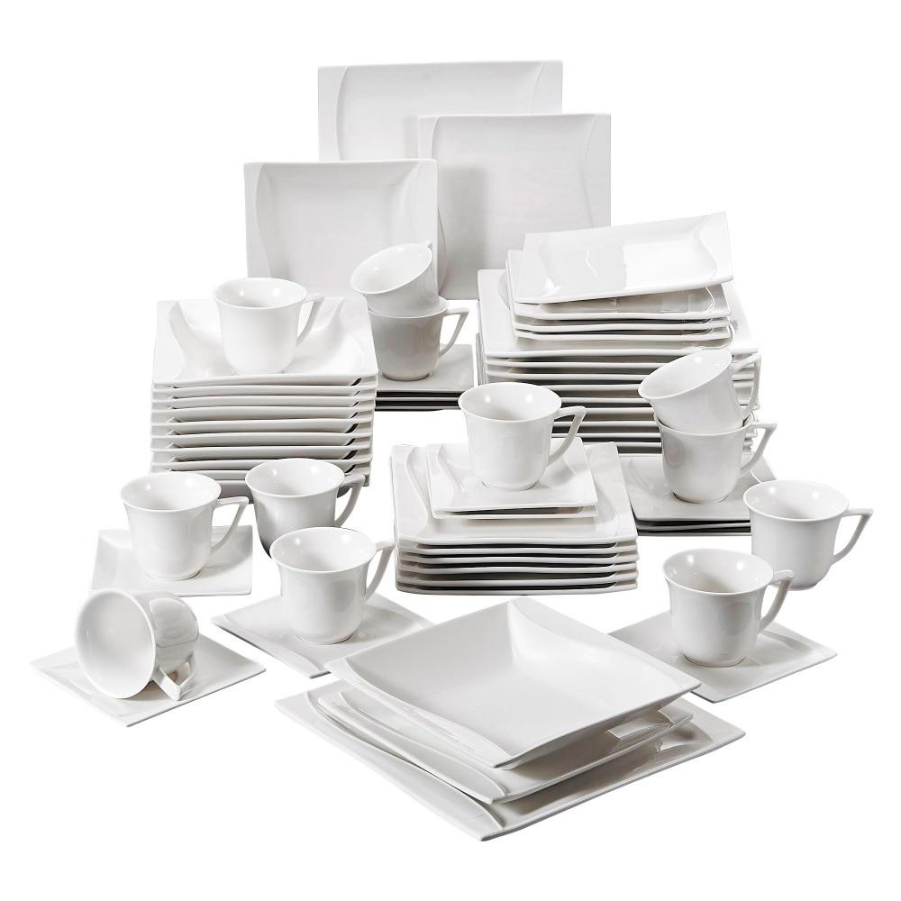 Carina 60 Piece Porcelain Dinner Set