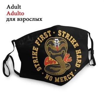 Cobra Kai Men Women Reusable Face Mask Snake Karate Dojo Anti Dust Protection Cover Respirator Mouth Muffle - discount item  40% OFF Mask