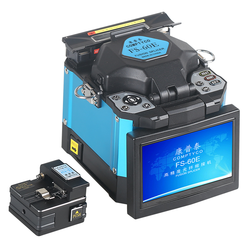 2019 New Product Promotion COMPTYCO FTTH Fiber Optic Welding Splicing Machine Optical Fiber Fusion Splicer FS-60E
