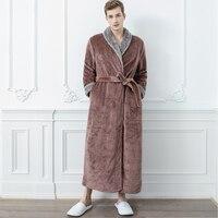 Men Fur Robe Coffee