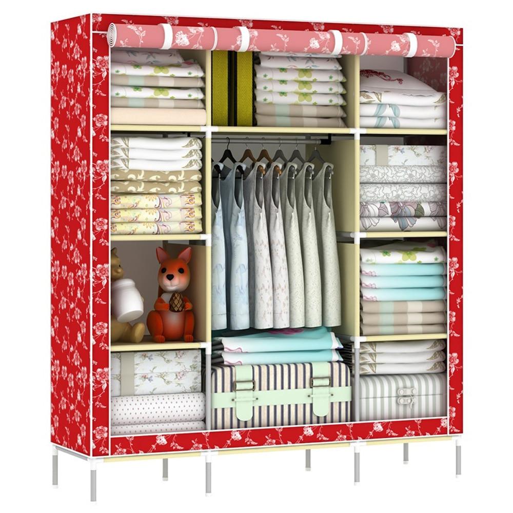 Super Large Wardrobe Portable Folding Reinforced Clothes font b Closet b font Organizer Home Furniture