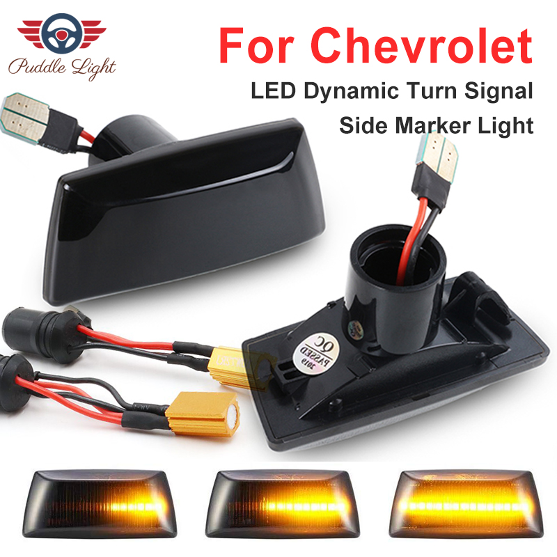 2Pcs Dynamic LED Side Marker Light Signal Blinker For Chevrolet Aveo T300 Cruze J300 J305 J308 Malibu Orlando J309 Vectra Zafira