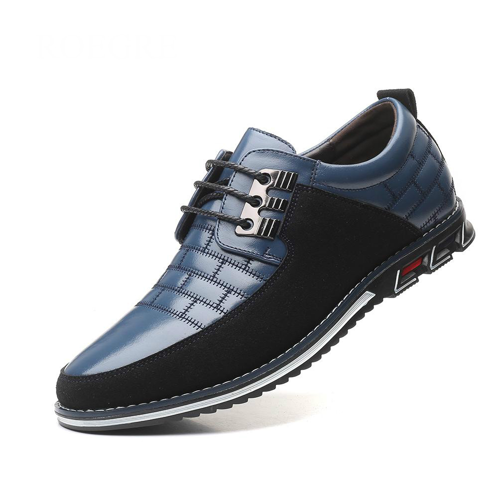 Big Size 38-48 Men Oxfords Leather Shoes 2020 New Fashion Casual Lace Up Formal Business Wedding Men Shoes Drop Shipping