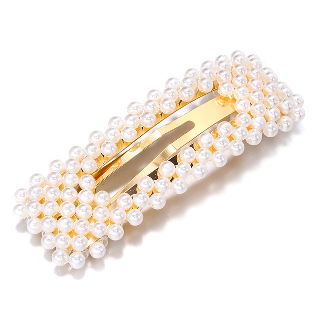 2019 New Fashion Pearl Hair Clip for Women Elegant Korean Design Snap Barrette Stick Hairpin Hair Styling Accessories Hair Pins 1