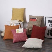 45x45cm Thick Linen Envelope Pocket Pillow Case Sofa Cushion Cover Dual-Use Solid Color 45x45cm home fashion linen sofa cushion cover fabric pillow case solid color cushion decorative