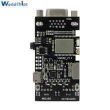 Kontroler VGA32 V1.4 PS/2 klawiatura z myszką VGA biblioteka graficzna silnik gier sterowanie terminalem ANSI/VT dla ESP32