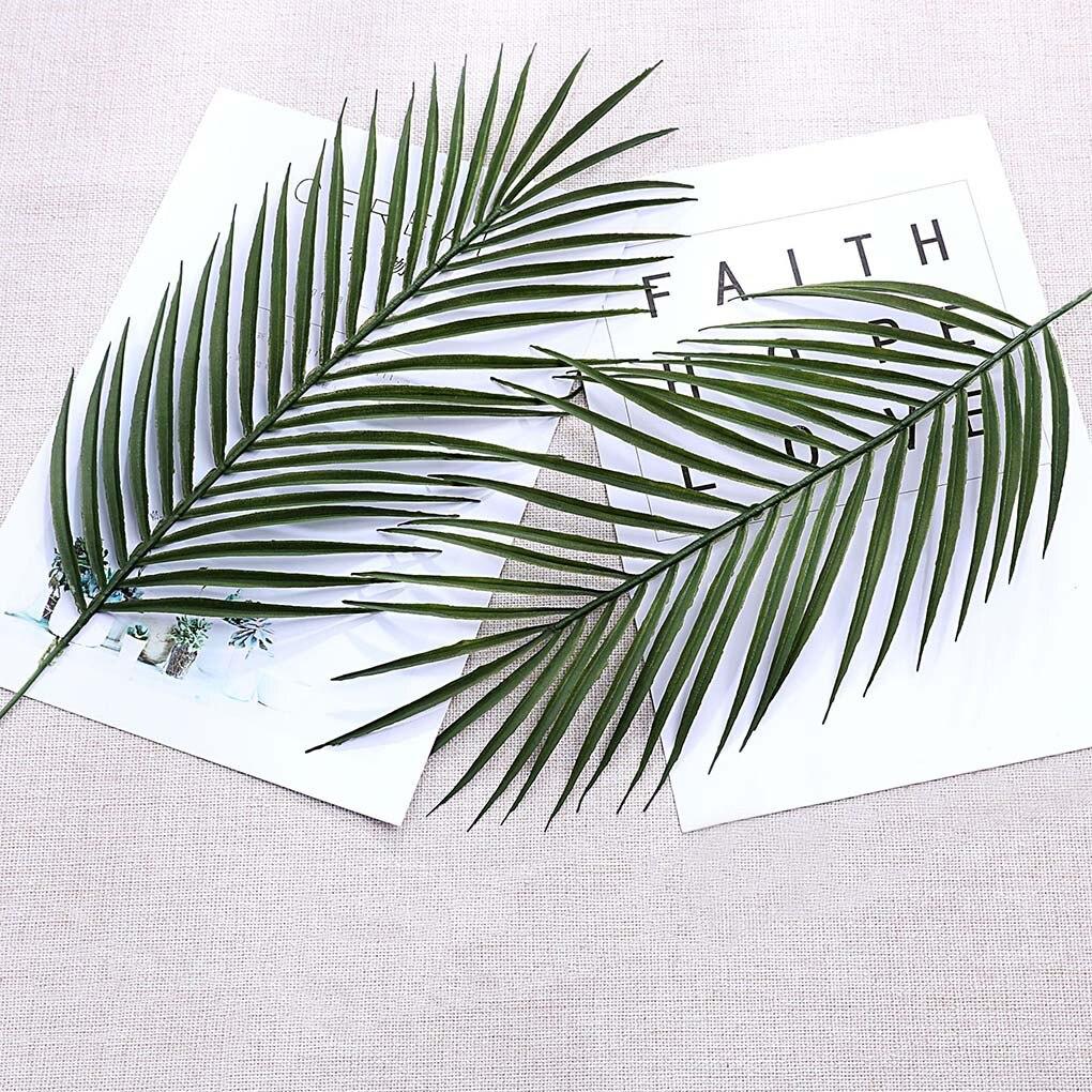 Artificial Palm Fern Leaf Simulation Plant Leaf Home office Wall Decoration Wedding Fake Plant Ornament