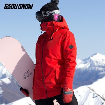 Gsou Snow Women Ski Jacket Snowboard Jacket Outdoor Sport Wear Skiing Riding Clothing Super Warm Female Coat Clothing Thermal