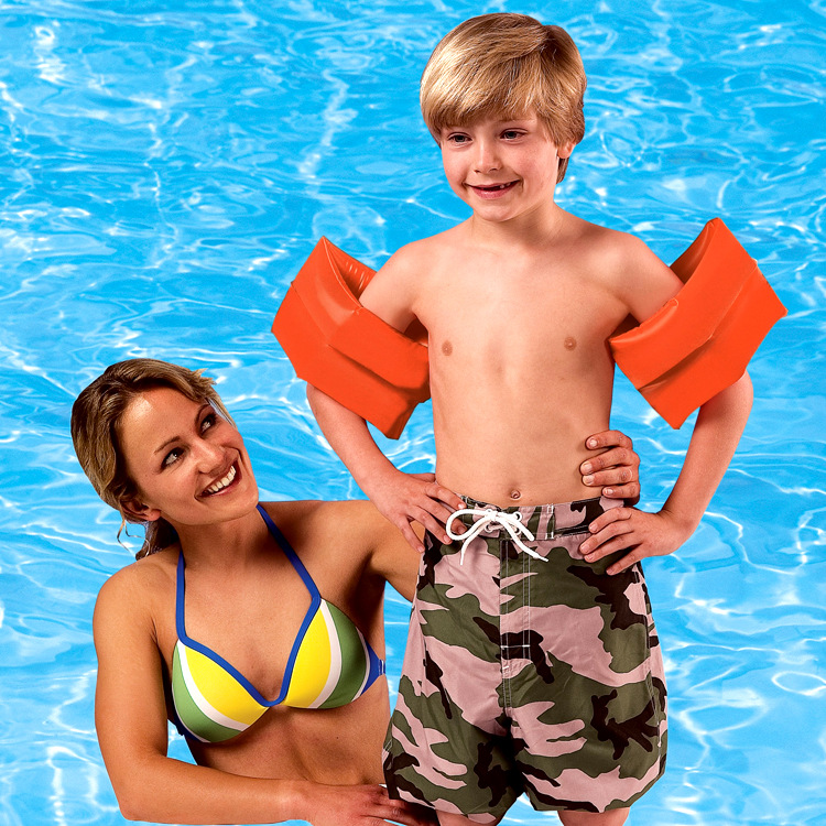 INTEX59642 Large Arm Ring Long White Silk Sleeves Swimming Tube Water Wing Ultra-Large Size Children Arm Floats