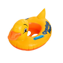 Swimming ring with handle size yellow duck seat ring baby baby children swimming boat life-saving swimming ring pool floats