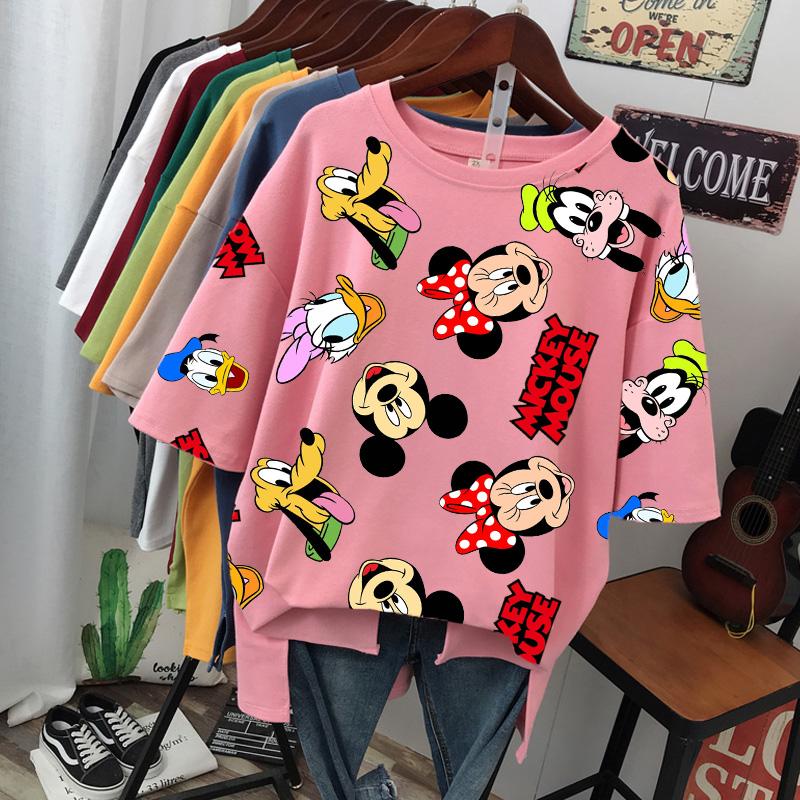 3D printing Harajuku summer casual women's T shirt Ulzzang streetwear Kawai Mickey Minnie print Disney T shirt