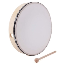 Percussion-Instrument Tambourine-Drum Drumstick Wooden Portable Musical-Toy for