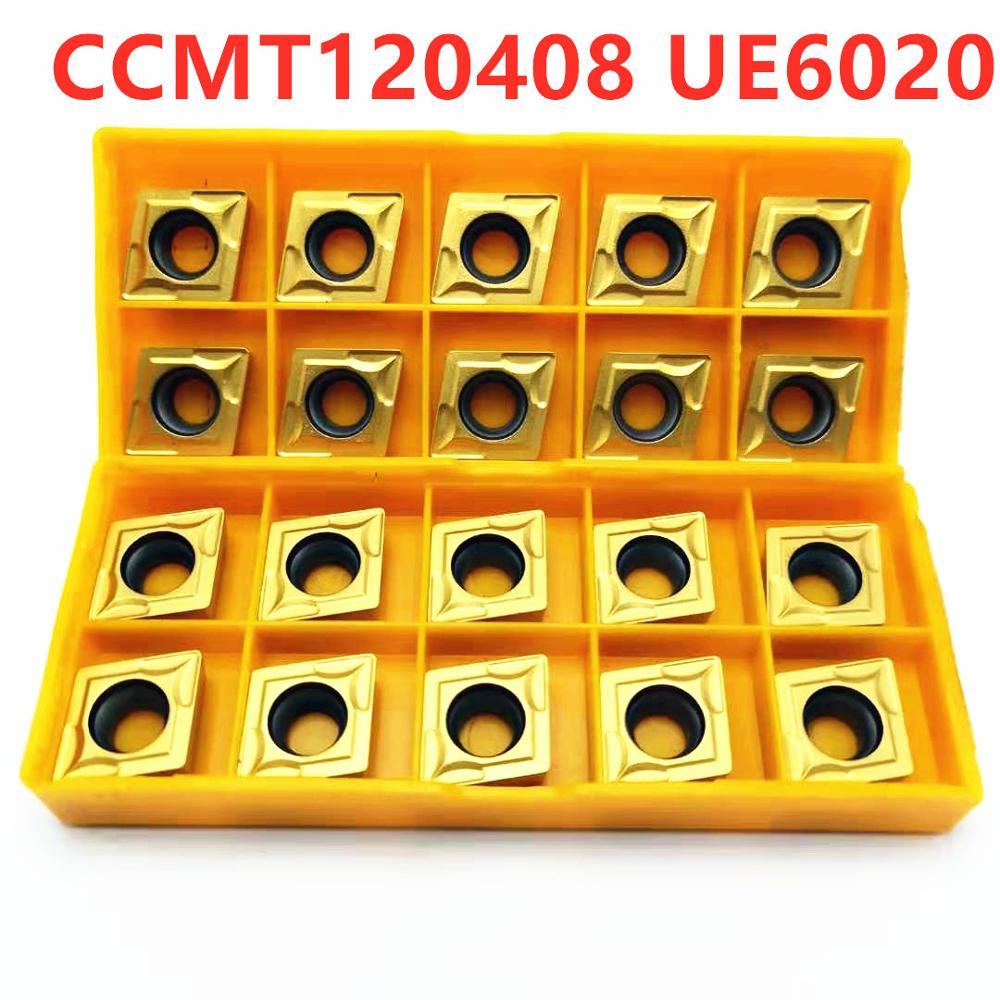 Tungsten Carbide CCMT120408 UE6020 CNC Stainless Steel Tool Blade Metal Lathe