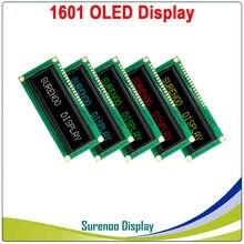 Реальный OLED дисплей, 1601 161 символ параллельный ЖК-модуль дисплей LCM экран, встроенный WS0010, поддержка серийного SPI