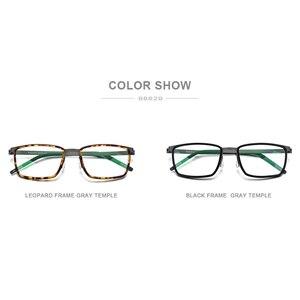 Image 5 - FONEX خلات سبائك العين إطارات النظارات للرجال مربع قصر النظر وصفة طبية البصرية العين إطارات النظارات 2020 بدون مسامير نظارات 98629