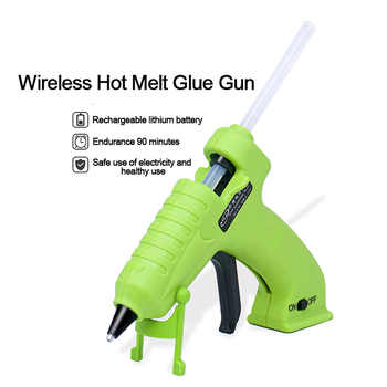 3.7V Cordless Glue Gun Hot Melt Glue Gun Portable Cordless Rechargeable USB DIY Household Glue Gun outdoors Tools For Kids Adult