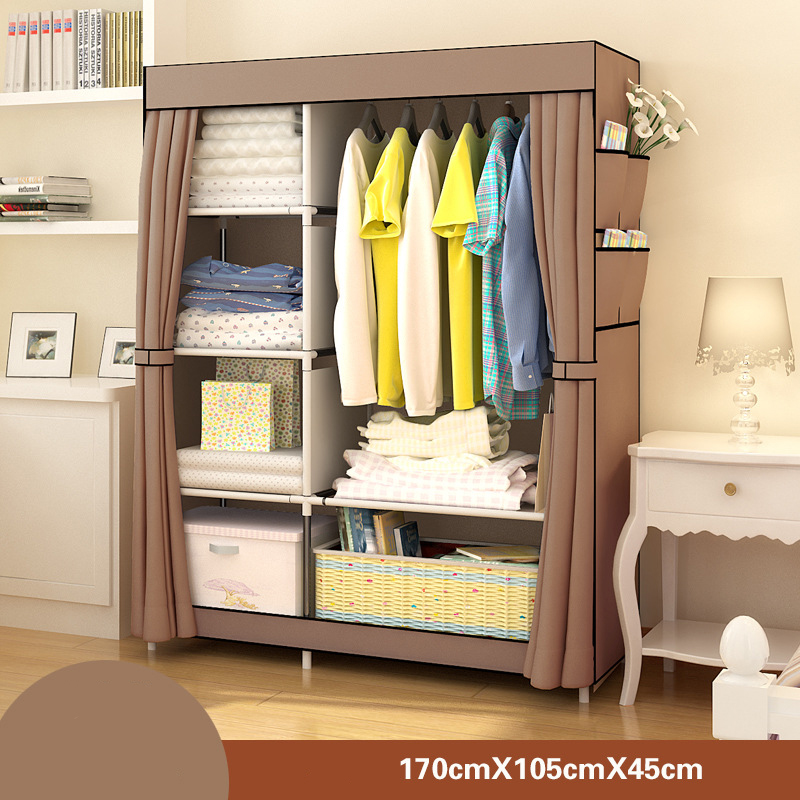 Bedroom Furniture Wardrobe Bedroom Cabinet Cloth Room Storage Assembly Multifunction Simple And Modern Furniture Closet JC042