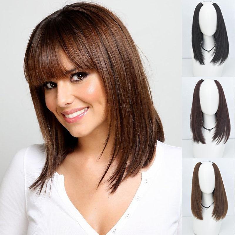 Длинные прямые синтетические накладные волосы на 6 зажимах DIANQI, накладные волосы из трех частей для женщин Синтетические прикрепляющиеся пряди    АлиЭкспресс