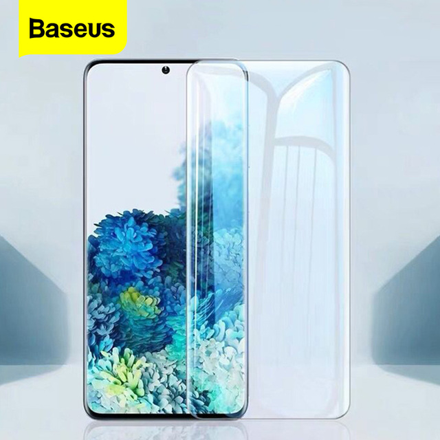 Baseus 2Pcs 0.25mm UV Screen Protector For Samsung Galaxy S20 Plus Ultra Full Cover Protective Tempered Glass For Samsung S 20