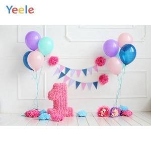 Image 5 - Yeele 1st Birthday Photozone Balloons Balls Cake Photography Backdrops Personalized Photographic Backgrounds For Photo Studio