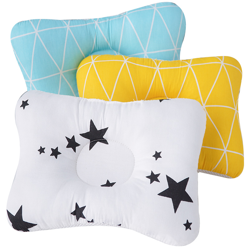 Dropship Baby Pillow Newborn Head Support Sleeping Positioning Cushion Animal Printed Sleeping Pillows Fashionable Bedding Set