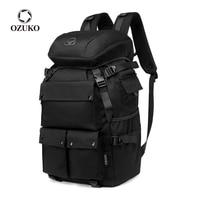 OZUKO Große Kapazität Männer Rucksack Mode Outdoor Wandern Reise BagPack Qualität Wasserdichte Taktische Männlichen Rucksack mit Schuh Tasche