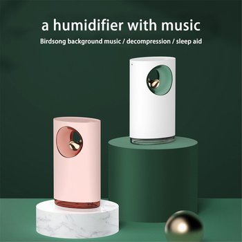 Musica USB Uccello Aria Umidificatore Con La Luce Di Notte Per La Casa Atomizzatore Diffusore Aroma Diffusore Anione Nebbia Fogger Del Creatore Della Foschia