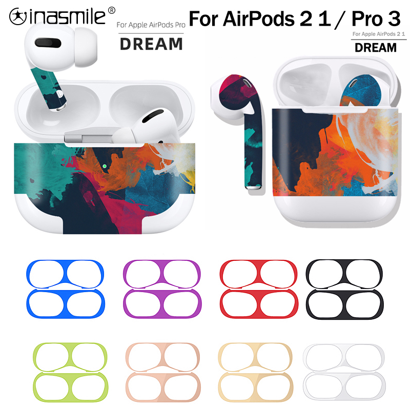 Gorgeous Dust Guard For Apple AirPods 3 2 1 Case Box Sticker Dust-proof Inside Protection Film For Air Pods Pro 3 Cover Stickers