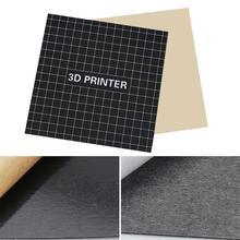 Запчасти для 3D-принтера магнитная лента для печати 300x300 мм квадратная Тепловая наклейка Горячая кровать сборная пластина лента поверхность Гибкая Пластина