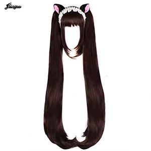 Image 1 - Parrucca Cosplay Ebingoo Chocola NEKOPARA capelli sintetici termoresistenti al cioccolato capelli Cosplay Chocola