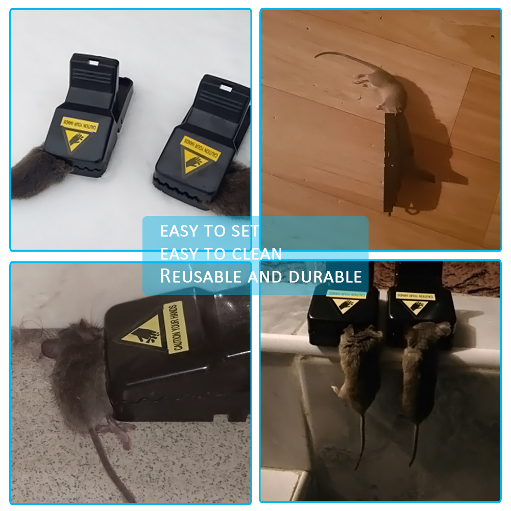 6Pcs/Lot Reusable Mice Mouse Traps Trap Mousetrap Catcher Killer Pest Control Traps Homehold Garden Supplies-4