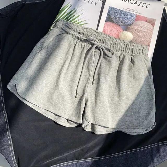 Women Shorts Summer Casual Solid Drawstring shorts high waist loose shorts for girls Soft Cool female short S-3XL 1