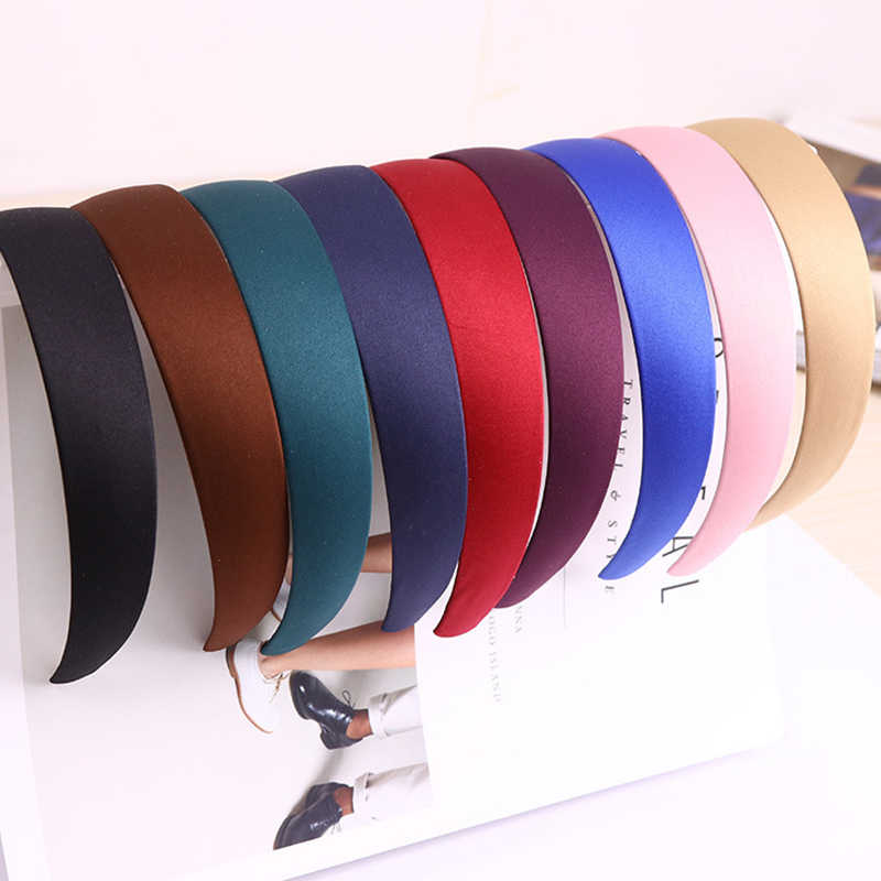New Korean Simple Style 5 Color Wide Plastic Headband Solid Hair Band Hair Hoop Fashion Hair Accessories for Women Wholesale