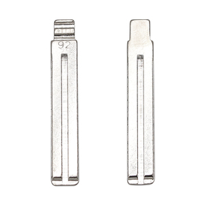 Image 3 - 10Pcs/Lot #92 Metall Flip Blank Key Klinge für Ssangyong Korando Neue Actyon C200 S170 ACTYON KYRON REXTON switchblade Uncut