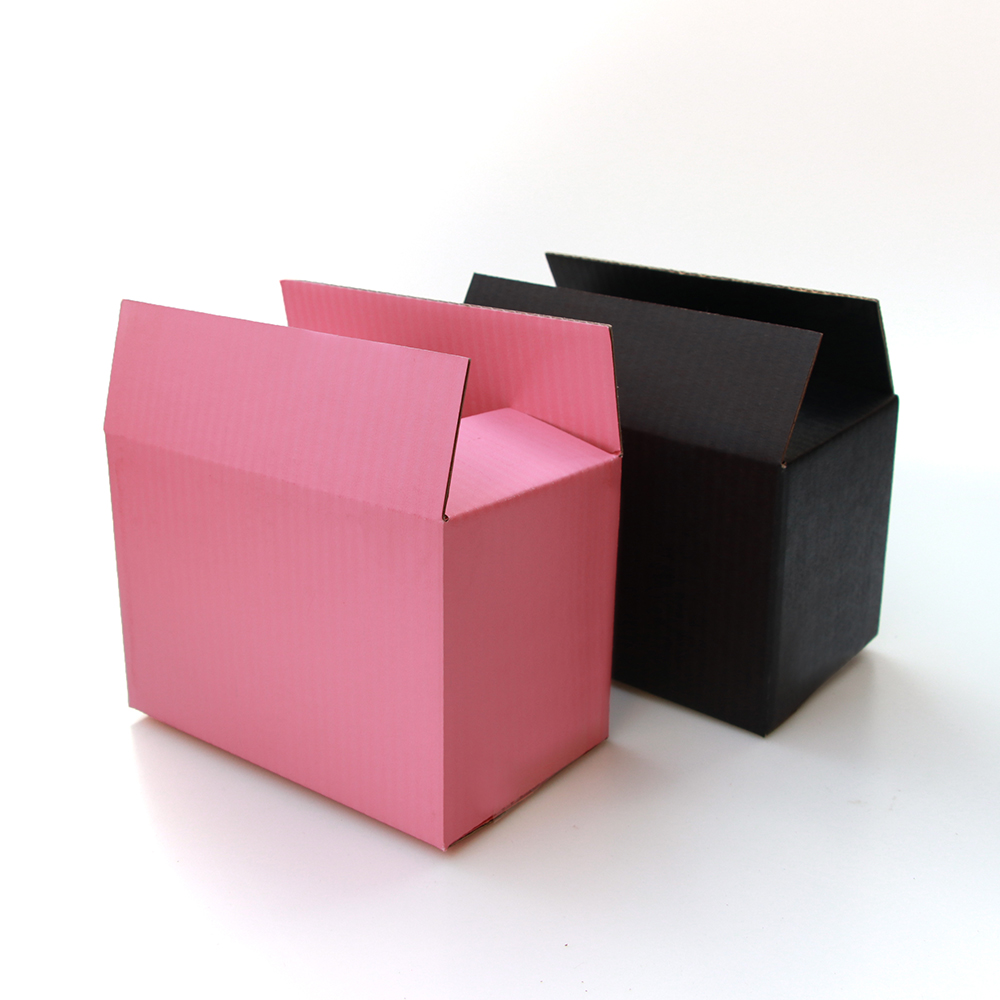 5pcs/10pcs / Black And Pink Paper Box 3-layer Corrugated Paper Packaging Gift Box Supports Customized Size And Logo