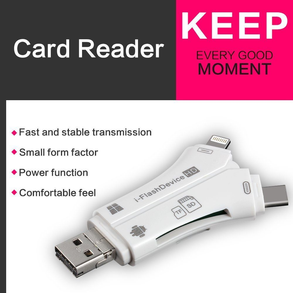 4 in 1 SD Card Reader