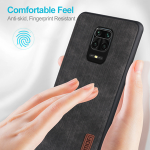 Image 2 - MOFi For redmi note 9s case for Mi Redmi Note 9 Pro max Cover Housing Silicone  shockproof jeans PU leather Black TPU Dustproof