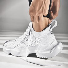 New Men Running Shoes Chaussure Homme Thick Soles Jogging Fitness Breathable